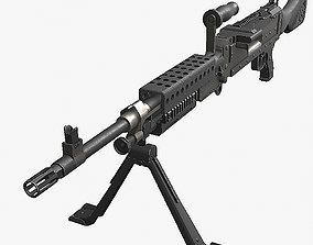 3D asset M240 machine gun