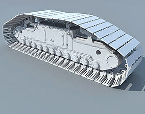 Detailed Crawler Shoe 3D model