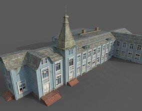 3D model Old Abandoned Wooden Mansion PBR