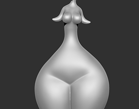 Modern sculpture of a lady 3D printable model
