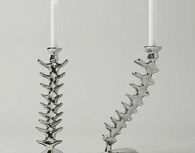 Vertebra Candlesticks by Michael Aram 3D