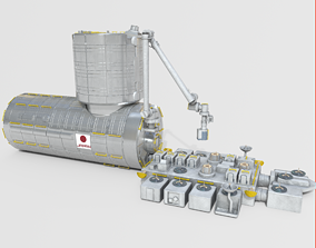 Japanese Experiment Lab Kibo HOPE Module on 3D