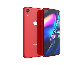 iPhone XR Red 3D model