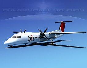 3D model DeHavilland DHC-8-Q300 JAL