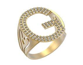 3D printable model Letter G Ring