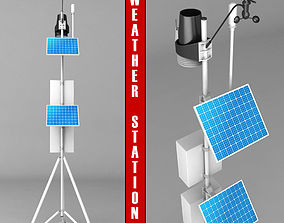 Weather meteo station high detail 3D model