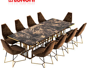longhi dining table 3D model
