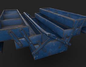 Tool Box with multiple color variations 3D asset