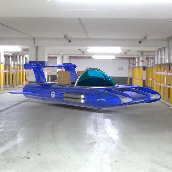 Retro Racer in a Garage