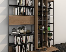 Bookshelf Decoration Set 3D