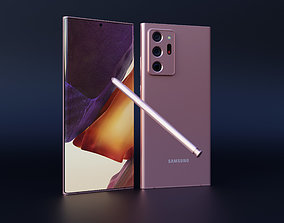 3D model Galaxy Note 20 Ultra - animation