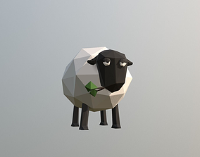 Low-poly Sheep 3D asset