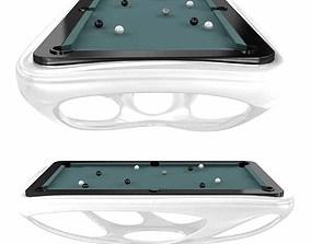 Billard toulet design billiard tables whitelight 3d model