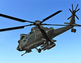 3D asset FLY Game-Ready 03 - Rigged Helicopter