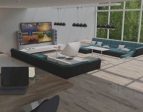 3D Light Loft Chill Game Room with 360-viewsettings