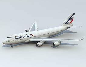 3D model 747-400 Air France