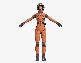 3D model Astronaut Girl