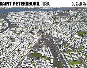 3D model Saint Petersburg Russia