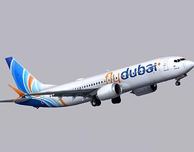 3D model Boeing 737 MAX-8 FlyDubai