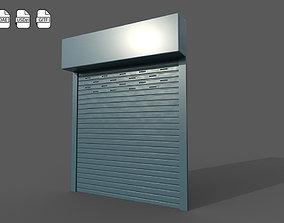 Metal industrial door 3D model