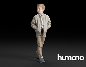 3D Humano Child Walking and looking 0307