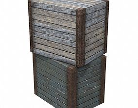 Large Wood Crate 3D asset