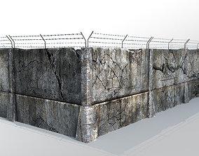 Fence detailed 3D asset