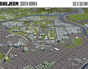 Daejeon South Korea 50x50km 3D