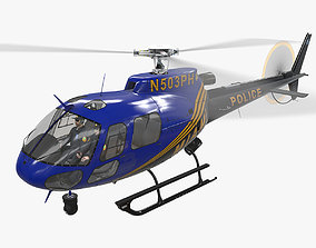 AS-350 Miami City Police Animated 3D model