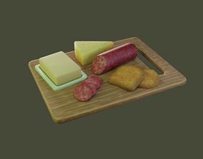 3D asset Breakfast set