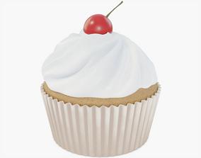 3D model low-poly Cupcake