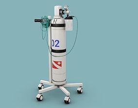 medicine oxygen bottle 3D