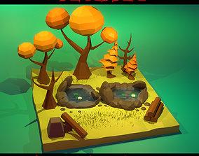 Low Poly Tree 3D asset low-poly exterior