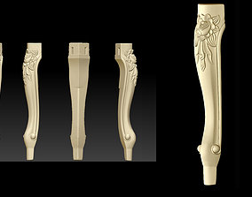 CABRIOLE CARVED Furniture Leg 3D Models set - 013