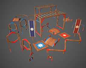 3D asset Obstacle Course Survivor Parkour