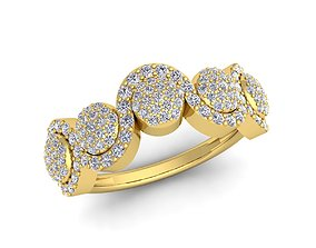 brilliant New Fancy Diomand Ring 3d Model print