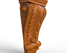Carved CNC 3D print model capitel