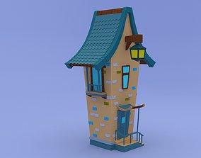 roof Cartoon House 3D