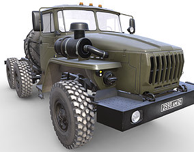 transport 3D asset RUSSIAN MILITARY TRUCK URAL-4320