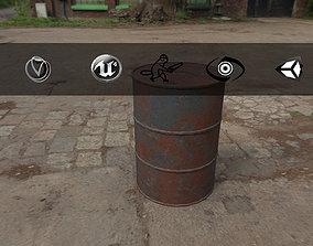 Rusty Barrel Style 2 3D asset