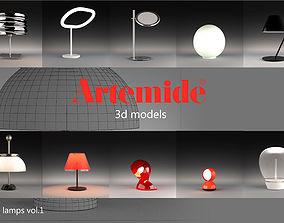 Artemide table lamps collection vol 1 3D