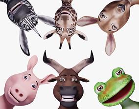 3D model Toon Humanoid Animals Vol 2