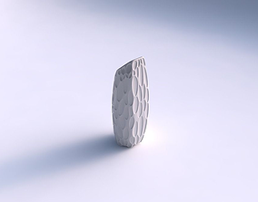 3D printable model Vase bent hexagon with bubbles