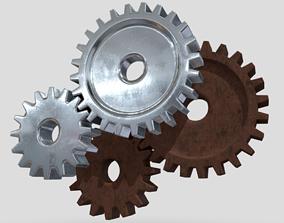 Gears 3D asset low-poly