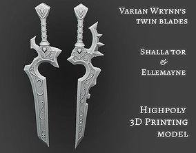 Varian Wrynns swords Shallator Ellemayne twin blades