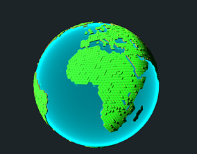 Earth Tiled Globe 3D asset