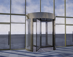 Revolving door set 3D asset