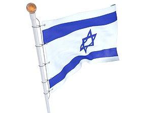 3D model Flag Israel animated