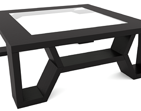 Coffee Table with Scratched Glass - 3ds Max realtime