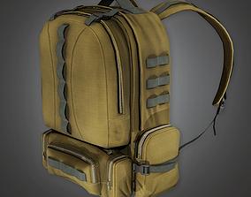 3D asset Military Backpack 01 - MLT - PBR Game